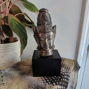 Buddha Head Book End or Mantle Piece